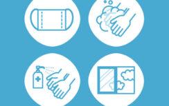 コロナウイルス感染予防対策について。